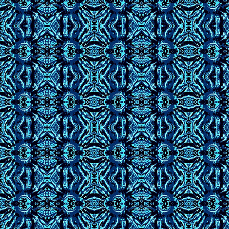 blue daisies 03 fabric by dk_designs on Spoonflower - custom fabric