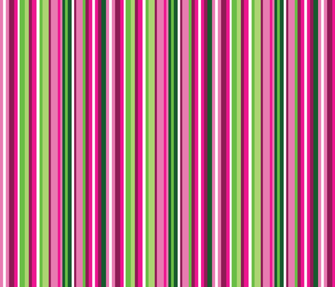Narrow Pink and Green Watermelon stripes fabric by elsielevelsup on Spoonflower - custom fabric