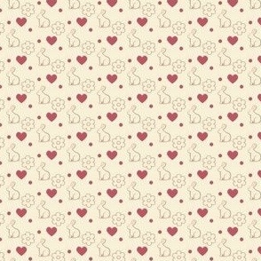 Bunny hearts and flowers