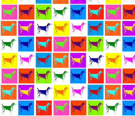 Warhol Hounds fabric by ragan on Spoonflower - custom fabric