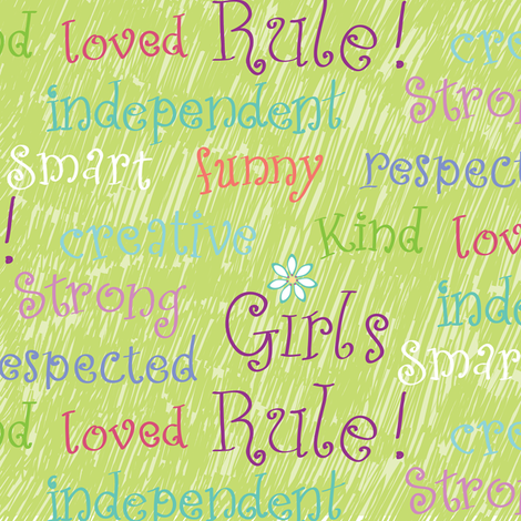 Girls Rule fabric by jillbyers on Spoonflower - custom fabric