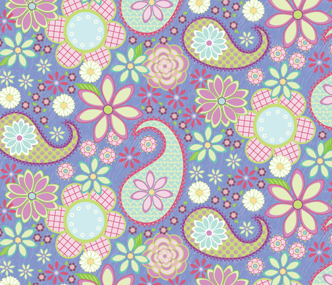 Flower Power fabric by jillbyers on Spoonflower - custom fabric