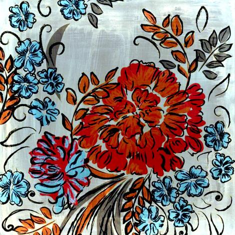 teardrop floral fabric by nascustomlife on Spoonflower - custom fabric