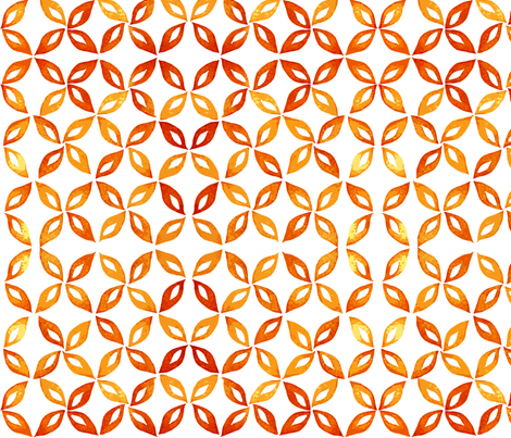 Leaf pattern in orange fabric by martaharvey on Spoonflower - custom fabric