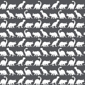 Dino Parade - Charcoal Gray