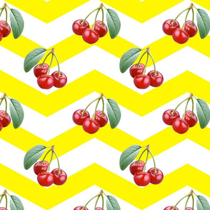 chevron_and_cherries_yellow