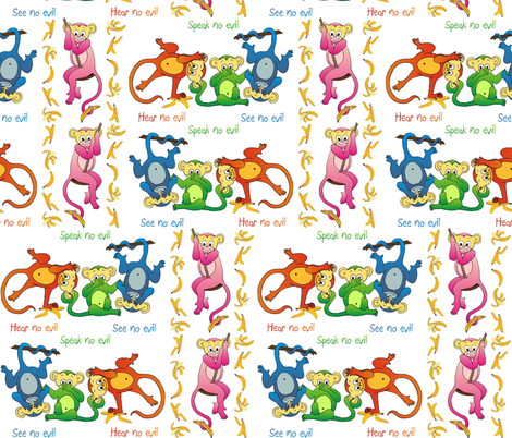 monkeys fabric by tat1 on Spoonflower - custom fabric