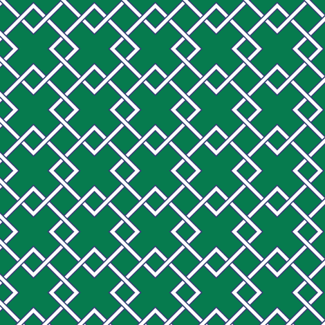 Lattice - emerald fabric by jillbyers on Spoonflower - custom fabric