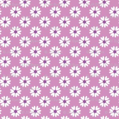 Daisy Heart purple