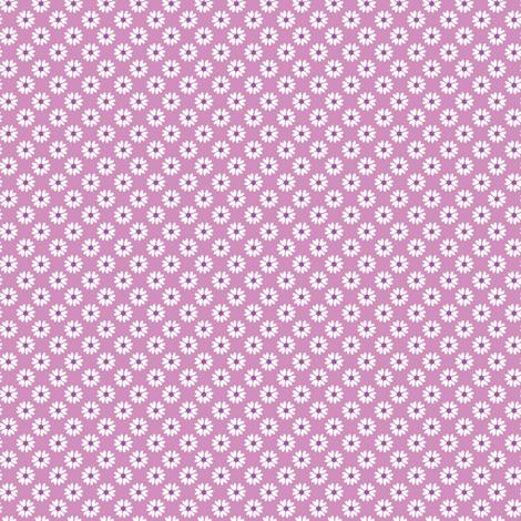 Daisy Heart purple fabric by jillbyers on Spoonflower - custom fabric