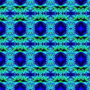 lacy blue floral stripes