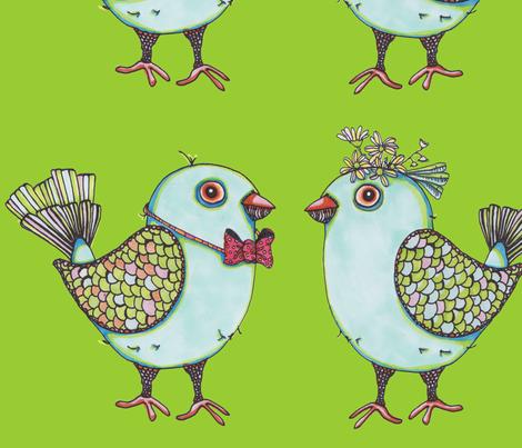 lovebirdsfabric fabric by artthatmoves on Spoonflower - custom fabric