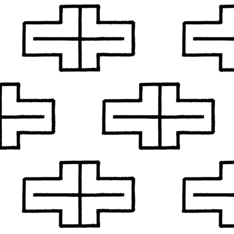 Cross Zero fabric by squash_ on Spoonflower - custom fabric