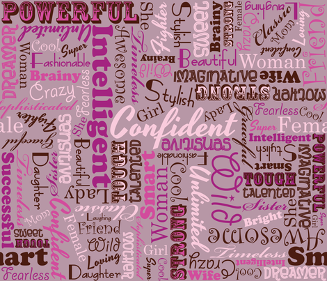 Womanly Words fabric by robyriker on Spoonflower - custom fabric