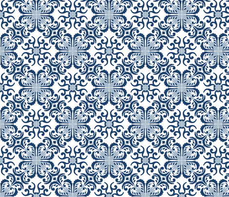 Delft fabric by flyingfish on Spoonflower - custom fabric