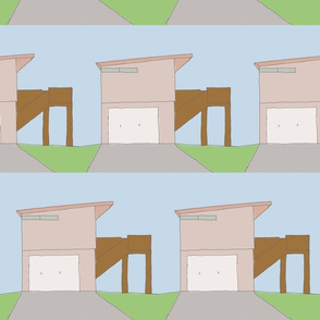 Hand-drawn Houses: Slanted Roof