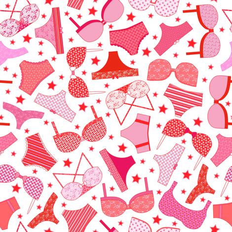 Skivvies Star fabric by mag-o on Spoonflower - custom fabric