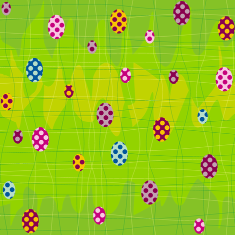 A Wonderland Easter fabric by smuk on Spoonflower - custom fabric