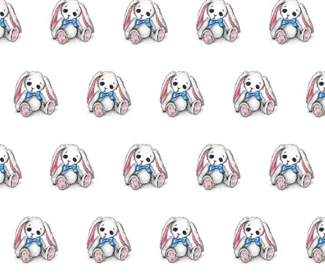 Sad bunny fabric by mezzime on Spoonflower - custom fabric