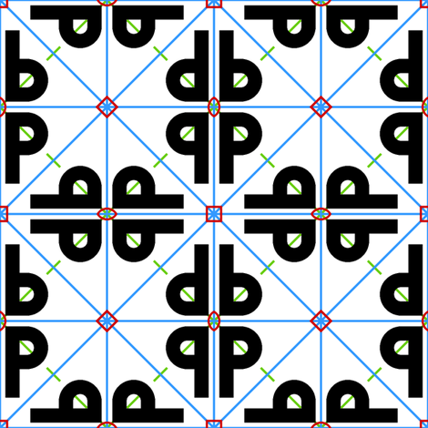 symmetry group p4mm fabric by sef on Spoonflower - custom fabric