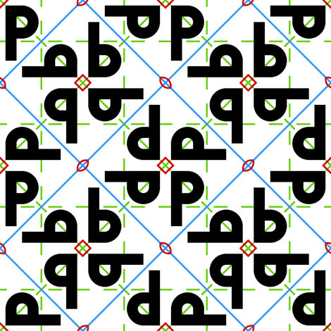 symmetry group p4gm fabric by sef on Spoonflower - custom fabric