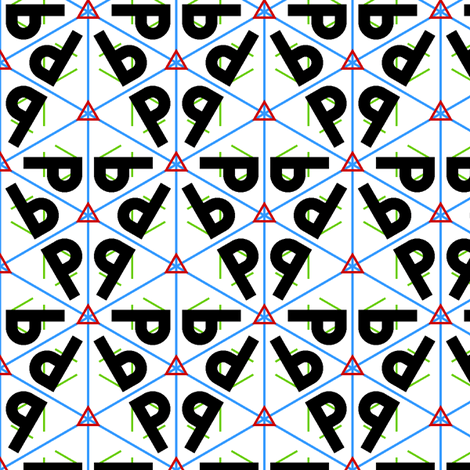 symmetry group p3m1 fabric by sef on Spoonflower - custom fabric
