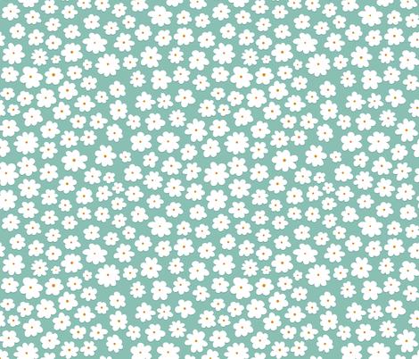 Ditsy Flowers fabric by joannehawker on Spoonflower - custom fabric