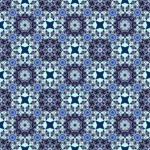 Kaleidoscope Snowflake BlueAqua
