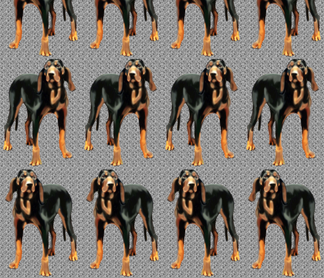 BLACK AND TAN COONHOUND fabric by dogdaze_ on Spoonflower - custom fabric