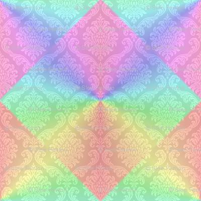 Rainbow Damask