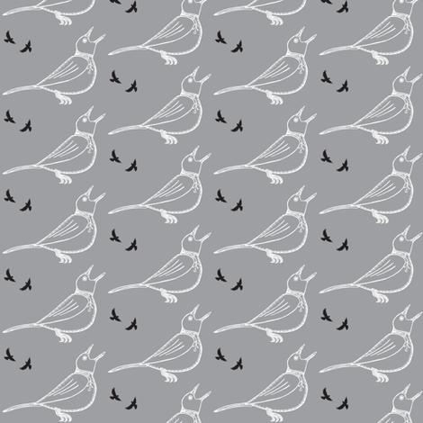 Bird-ch fabric by littlebeardog on Spoonflower - custom fabric