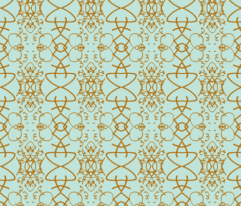 Sign of our Times, aqua and ochre fabric by susaninparis on Spoonflower - custom fabric