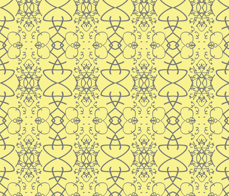 Sign of our Times, yellow and gray fabric by susaninparis on Spoonflower - custom fabric