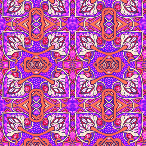 Reaching Outside of the Box (purple/magenta version) fabric by edsel2084 on Spoonflower - custom fabric