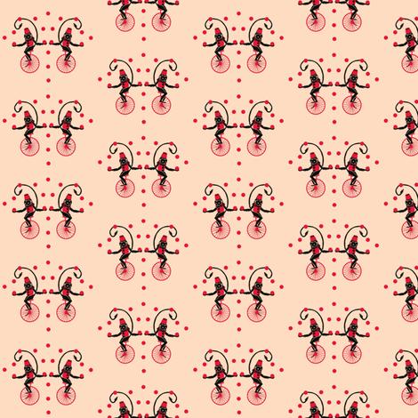Circus Monkey Red Hat fabric by katarinakarsberg on Spoonflower - custom fabric