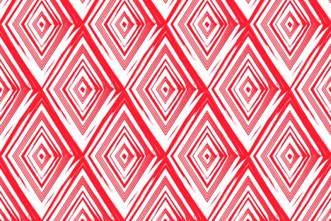 Custom Diamond in vermillion fabric by danikaherrick on Spoonflower - custom fabric