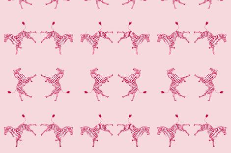 zebra_high 5 red/pink fabric by danikaherrick on Spoonflower - custom fabric