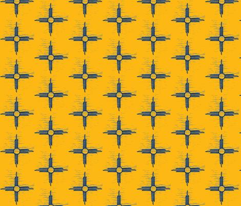 Sun gold + blue  fabric by darci on Spoonflower - custom fabric