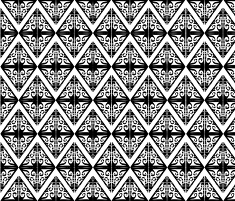 Triangle hand carved block pattern - diamond fabric by martaharvey on Spoonflower - custom fabric