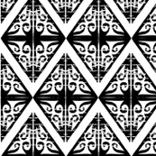 Triangle hand carved block pattern - diamond