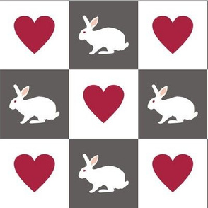 White Rabbit Plays Chess with the Queen of Hearts