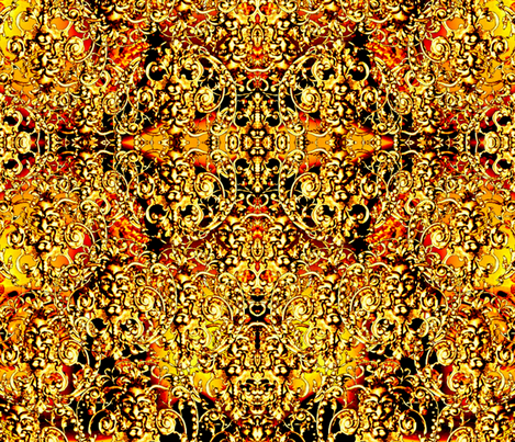 All That Glitters Is Not Gold fabric by whimzwhirled on Spoonflower - custom fabric