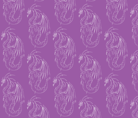 Lady dragon fabric by mezzime on Spoonflower - custom fabric