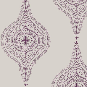 Moroccan Plum on Gray