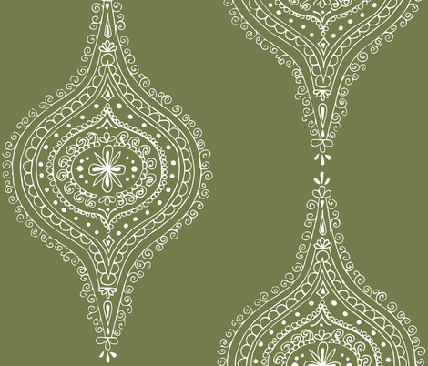 Moroccan Olive fabric by hazelrose on Spoonflower - custom fabric