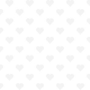 Grey Cross Stitch Hearts