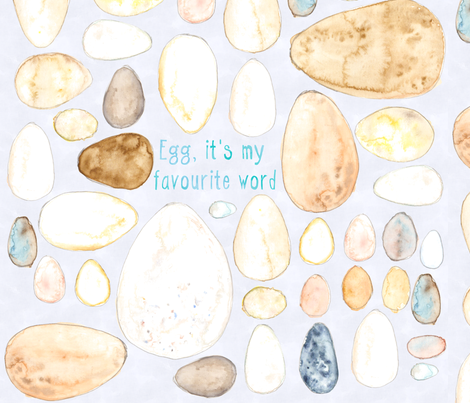 Egg, it's my favourite word. fabric by wiccked on Spoonflower - custom fabric