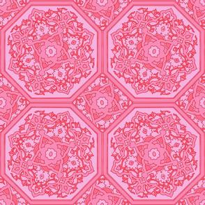 Persian Tile ~ Pink & Vermilion