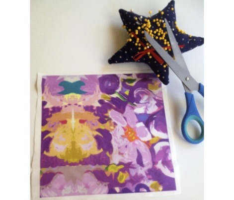 Small Print Lavender and Violet Floral