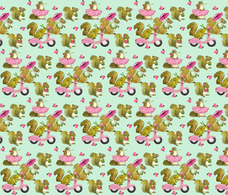Girly Squirrels fabric by golders on Spoonflower - custom fabric